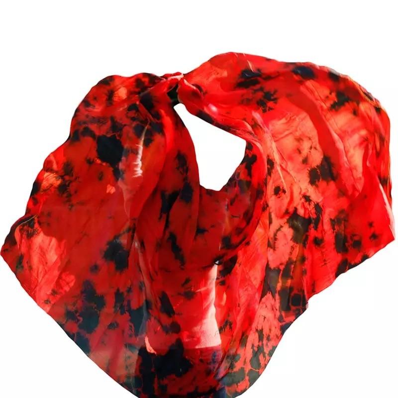 Véu Mesclado Vermelho preto